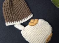 ニット帽 編み物
