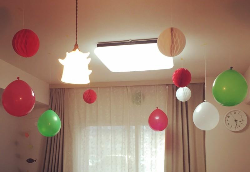 100均 飾りつけ 誕生日 クリスマス
