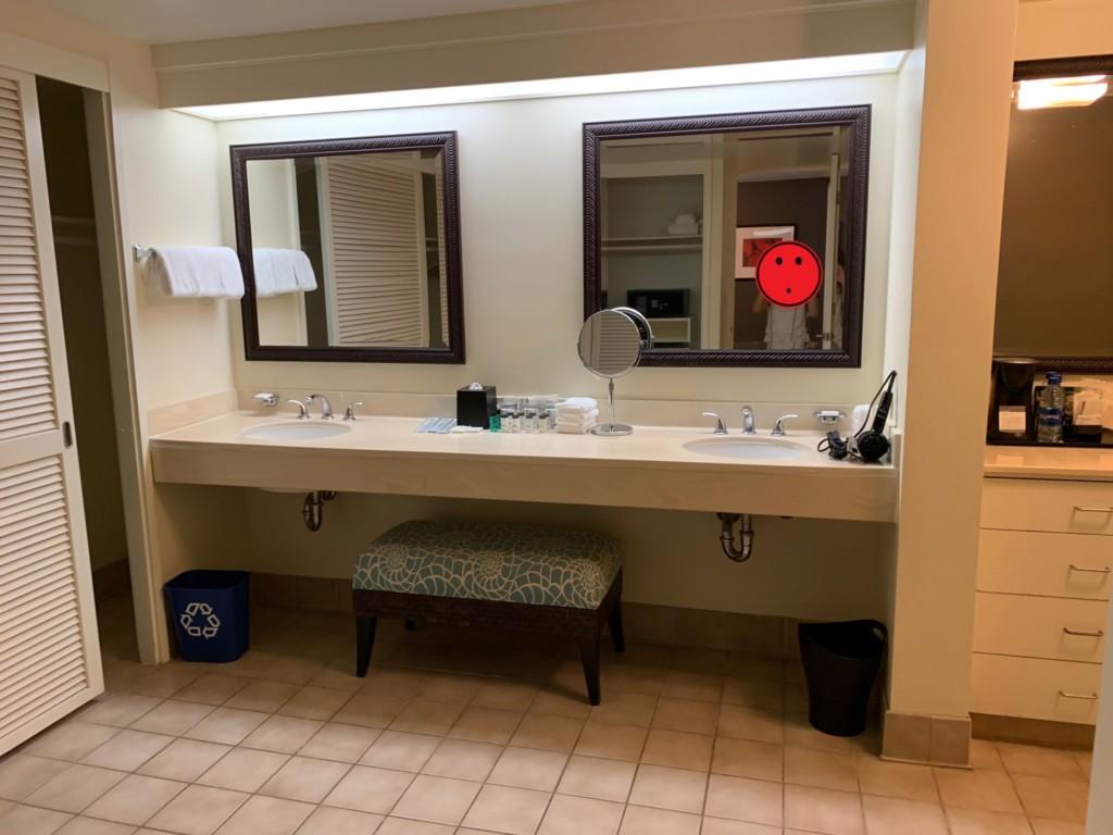マリアスイートの洗面、パウダールーム