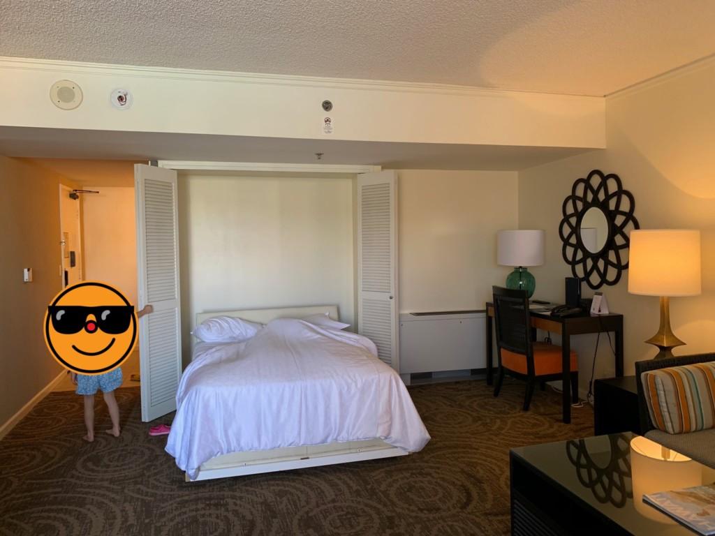 マリアスイートの収納式ベッド