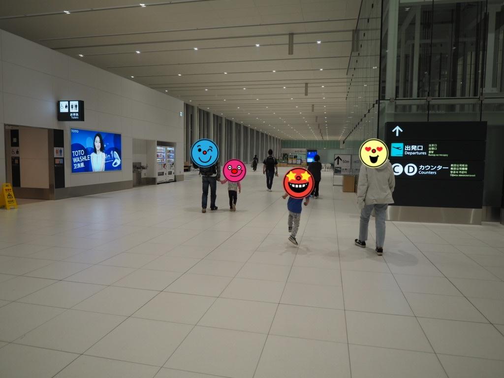 新千歳空港の国際線出発ロビー
