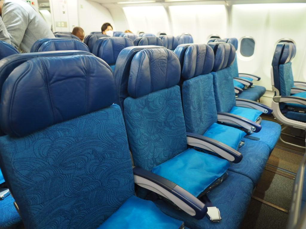 ハワイアン航空ホノルルー新千歳線の機内