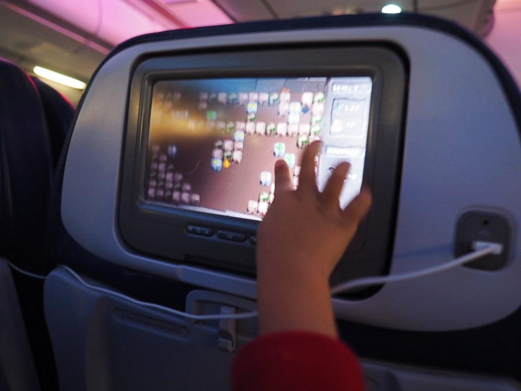 ハワイアン航空の機内ゲーム
