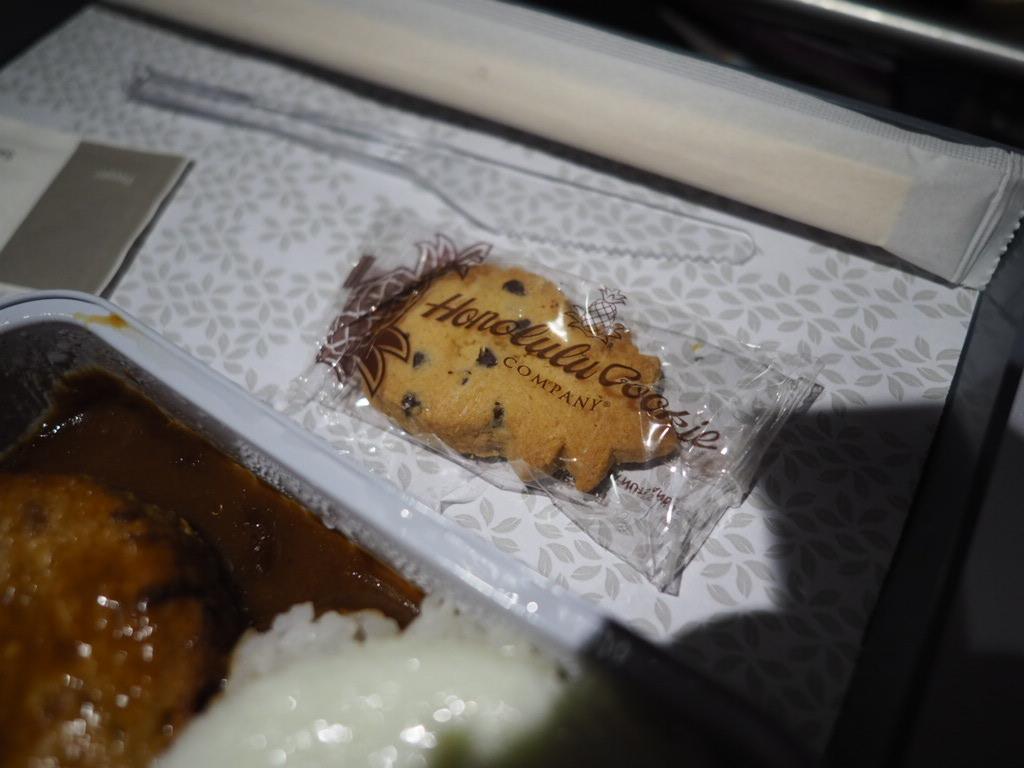 ハワイアン航空 千歳ーホノルル線の機内食のデザート
