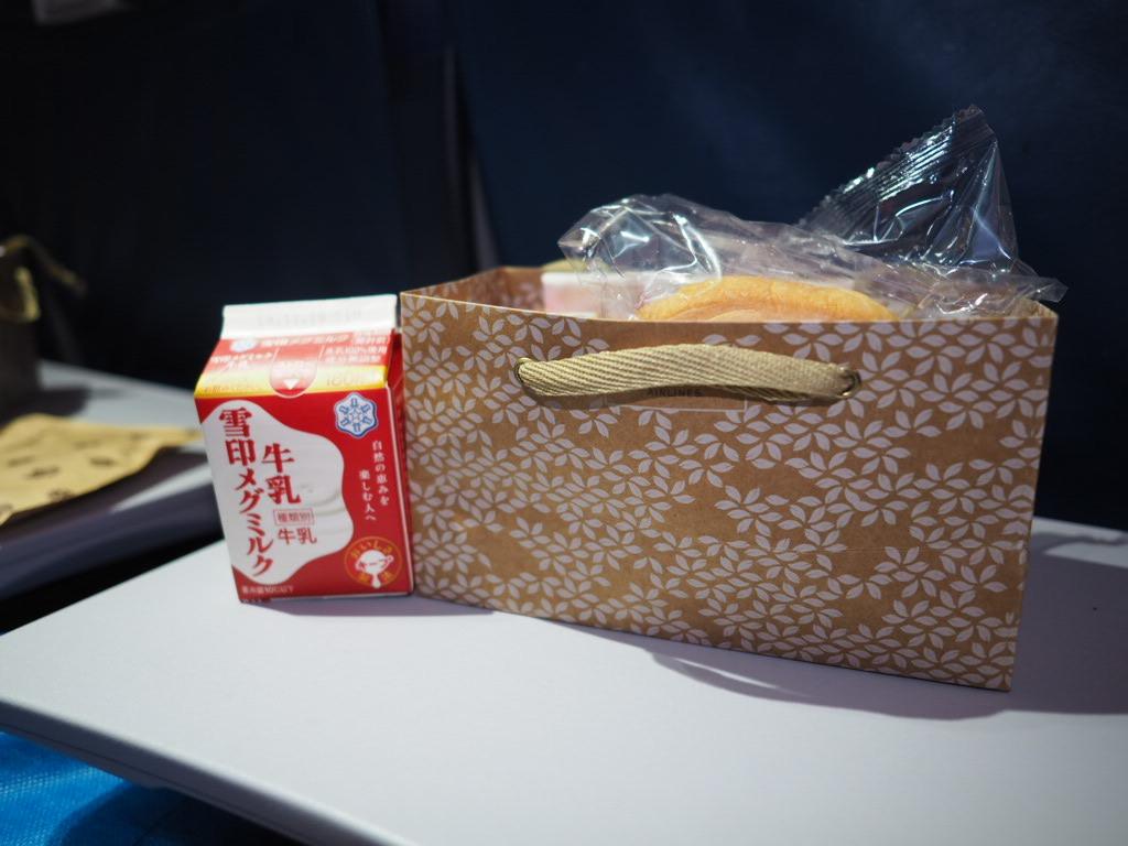 千歳ーホノルルフライトの機内食(軽食)